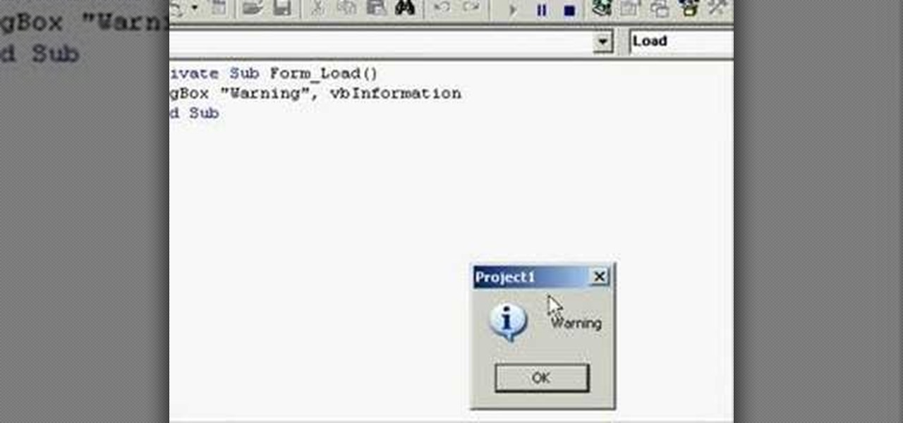 How To Add An Image To A Message Box In A Visual Basic 6