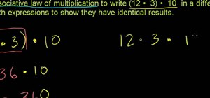 Solve math problems with the associative law of multiplication