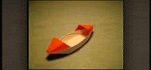 Fold an origami sampan boat