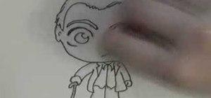 Draw a male chibi character