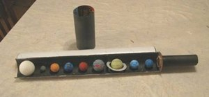 Create your own solar system diorama in the shape for a telescope