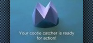 Origami a cootie catcher fortune teller