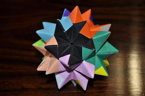 How To Fold A Pentakis Dodecahedron Math Craft Wonderhowto