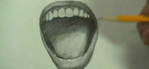 Draw a screaming angry mouth