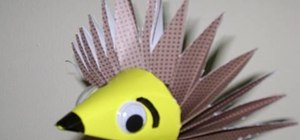 Make a porcupine or hedgehog craft out of paper