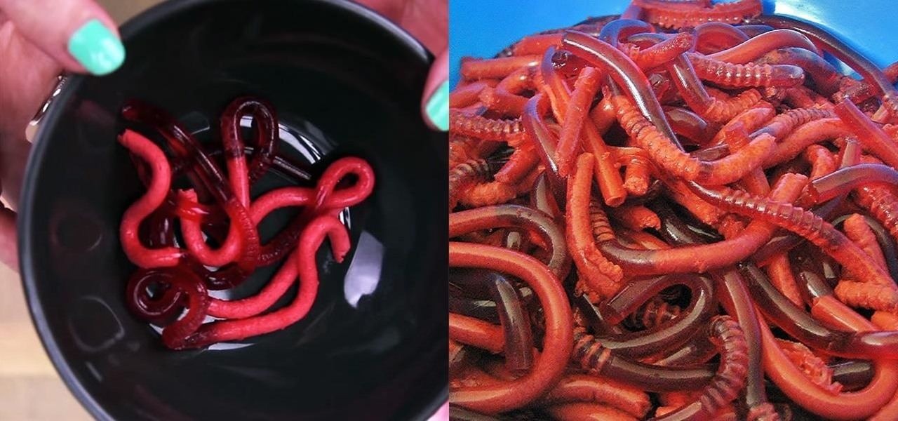 homemade jello worms
