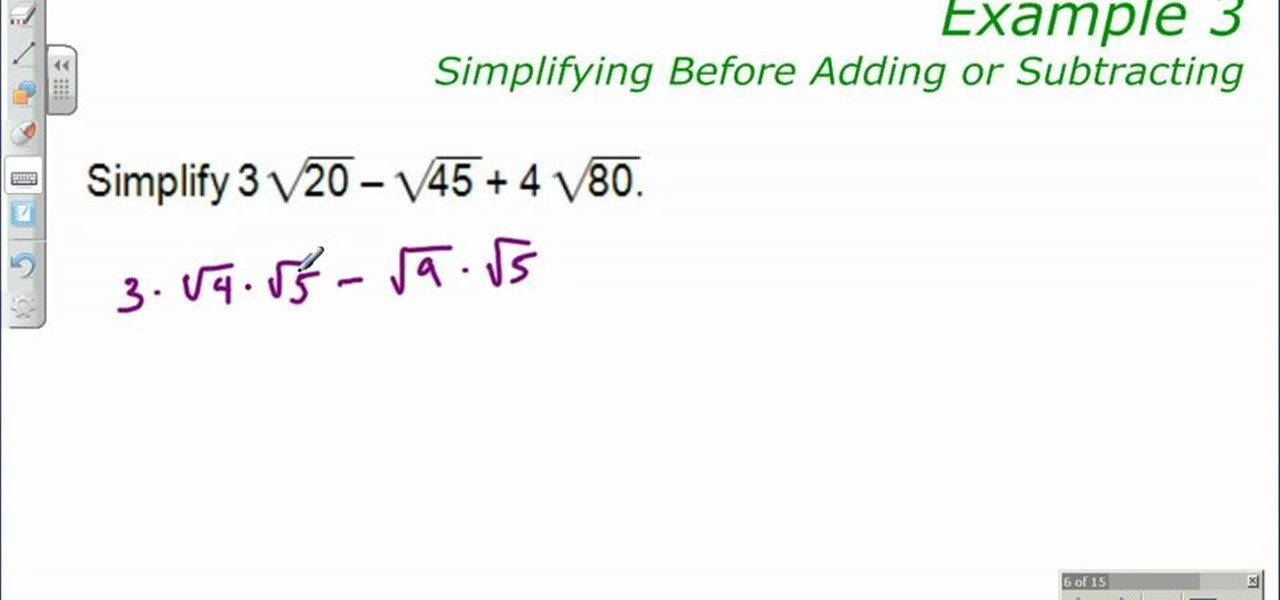 How to Simplify radicals before adding or subtracting « Math ...