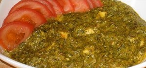 Make Indian palak paneer  with Manjula