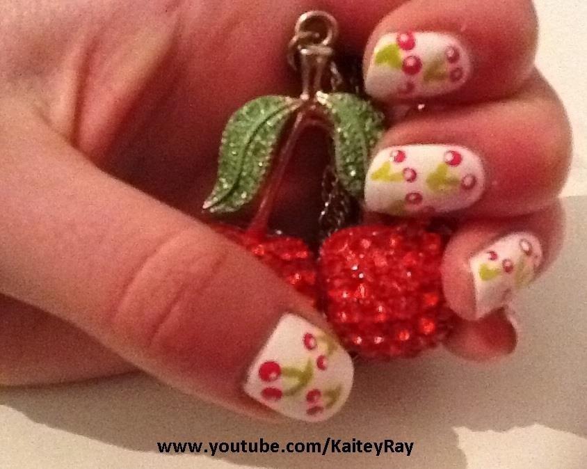 How to Paint a Cute Cherry Design on Fingernails