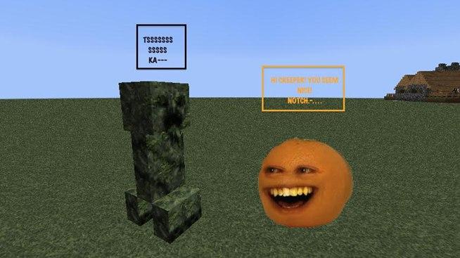 Annoying Orange Meets Minecraft