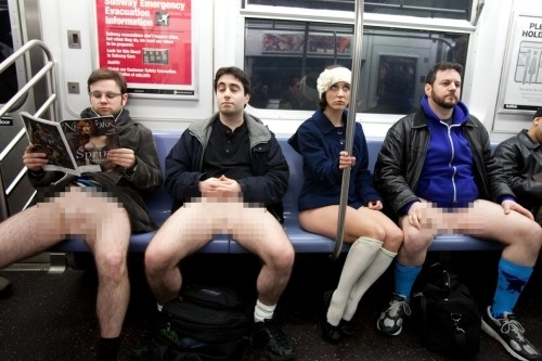 April Fool's Gets Butt Naked on the Subway