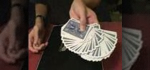 Flourish a deck of cards with the thumb fan
