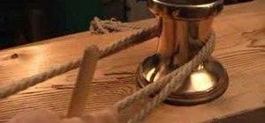 Tie a pegged bowline knot