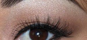 Create a glamorous yet neutral eye makeup look