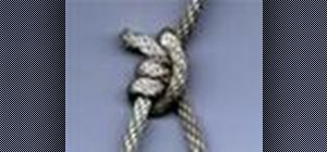 Tie the tautline hitch Boy Scouts knot