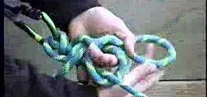 Tie a munter hitch knot for climbing