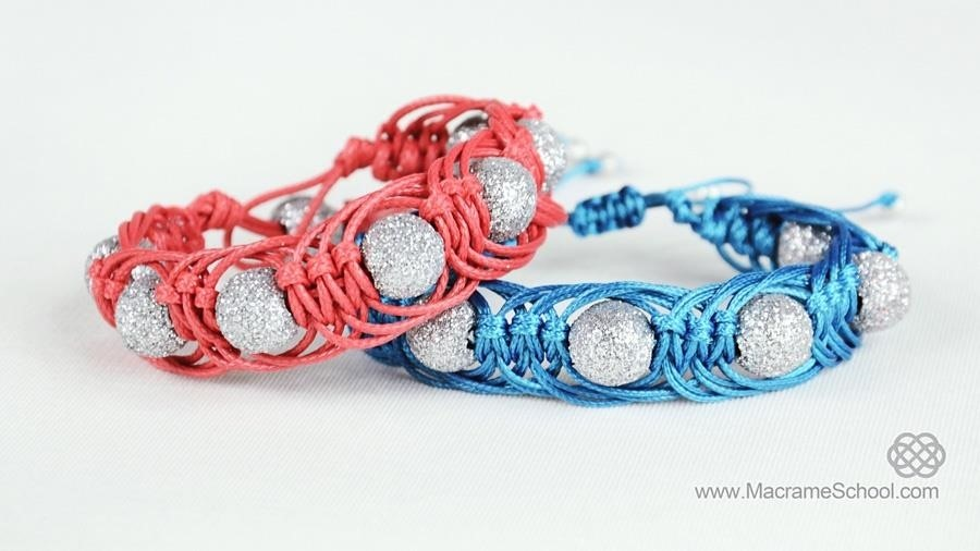 DIY Easy Macrame Party Bracelets