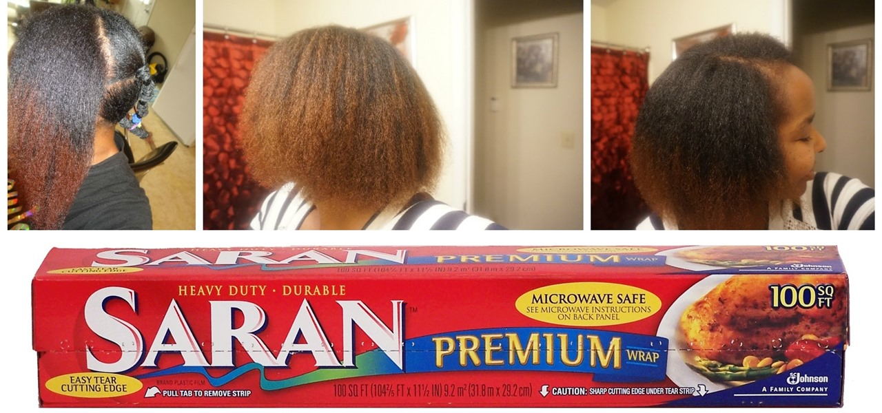Saran Wrap Technique on Natural Hair | Lightly Blow Dryed (FAIL)