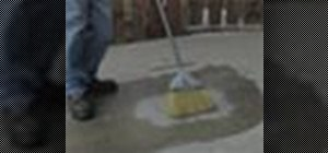 Get grease off a concrete driveway
