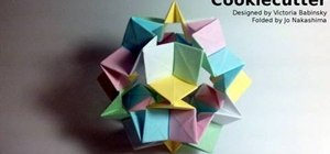 Fold a complex cookie cutter origami star for Christmas