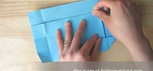 Origami a paper envelope without glue or tape