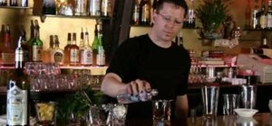 Mix a flaming absinthe Sazerac
