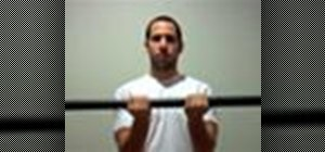 Exercise with a weighted bar