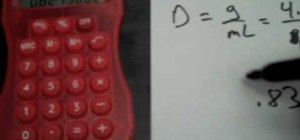 Find the density of an object