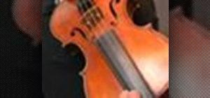 Play an A major arpeggio on the violin