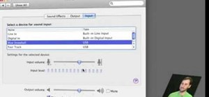 Set up sound output & input in Mac OS