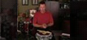 Play the single stroke roll drum rudiment