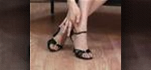 Wear dance shoes for Latin dance