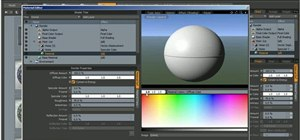 Create and apply an ice shader in Luxology Modo