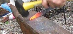 Use basic hammer strikes in blacksmithing