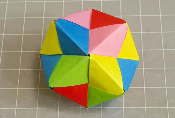 Modular Origami / KNITTED BALL / Instructions / Tutorial ... | 402x592