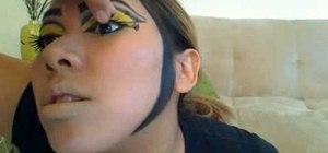 Create a Queen Bee Halloween makeup look