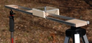 Make a home made glidetrack at home using a curtain rod