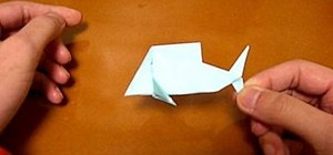 Origami a fish with one square of paper