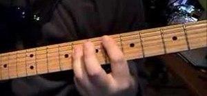 "Play ""Som Sarn"" by Sek Loso on electric guitar"