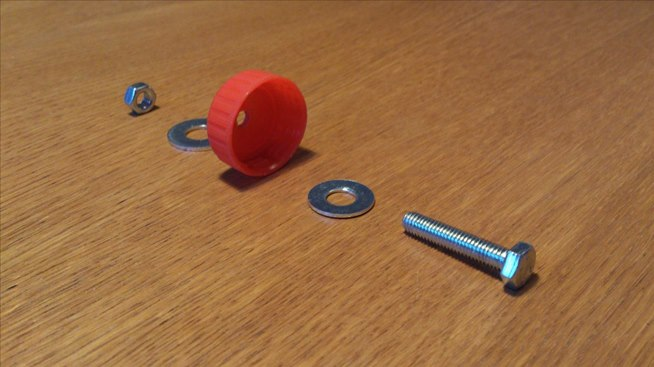 how to make screw holes in shells