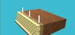 Build a retaining wall with a fence application
