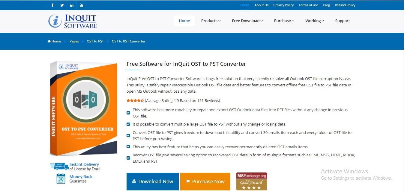 Recover Lost Outlook OST Mailbox with InQuit OST to PST Converter