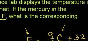 Convert a temperature from Fahrenheit to Celsius with simple arithmetic