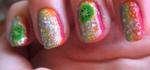 Paint a rainbow, multi-colored manicure