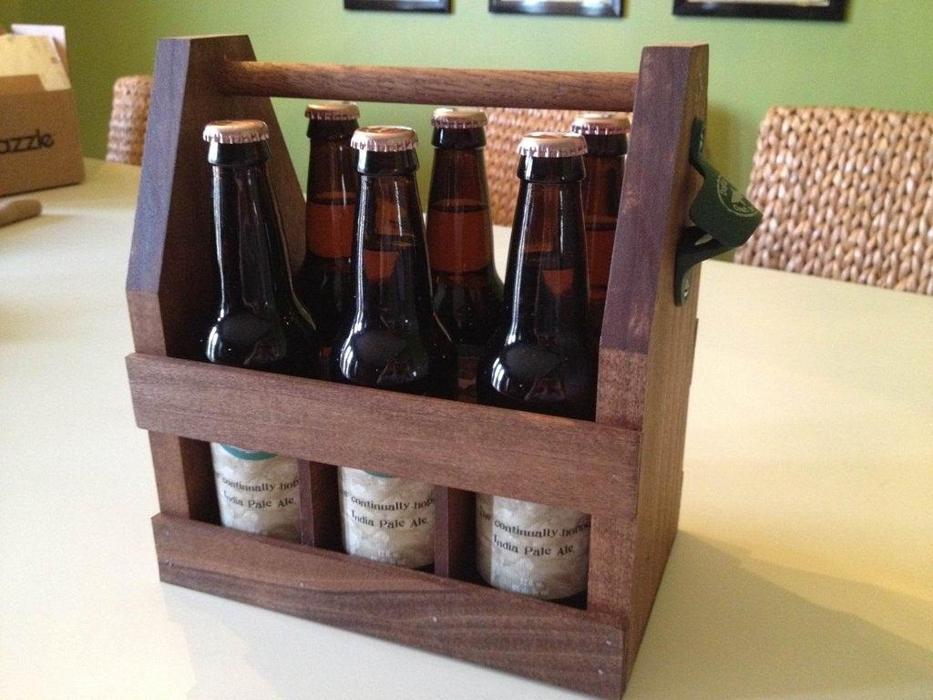 How To : Carry Your Beer in Style with These DIY Wooden Six-Pack ...