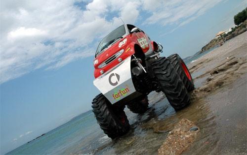 monster truck your smart car