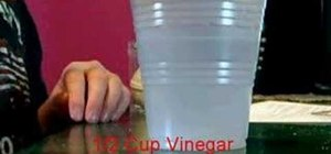 Clean a penny using vinegar and salt