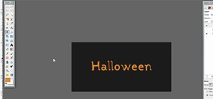 Create Halloween text in GIMP