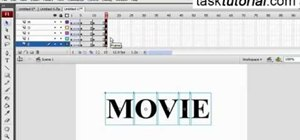 Create a simple text effect in Flash