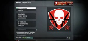 Create a military-style skull badge in Call of Duty: Black Ops